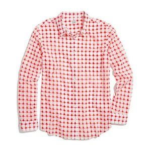 MADEWELL Graphic Grid Boyshirt Button-Up Blouse M